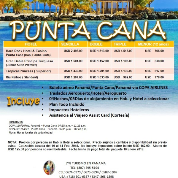Punta Cana (Carnavales 2018)